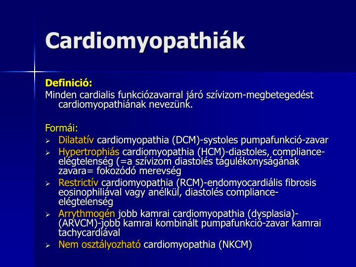 Cardiomyopathiák