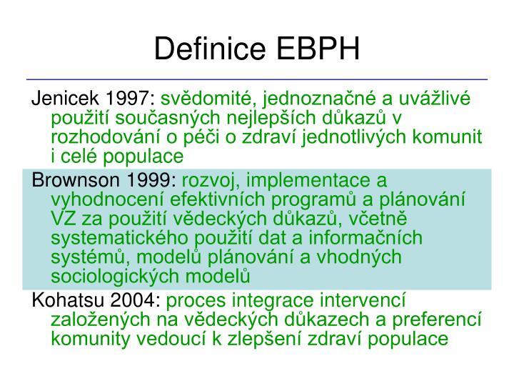 Definice EBPH