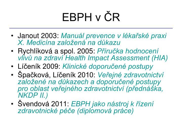 EBPH v ČR