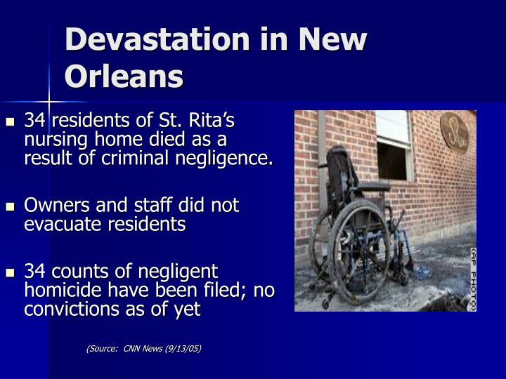 Devastation in New Orleans