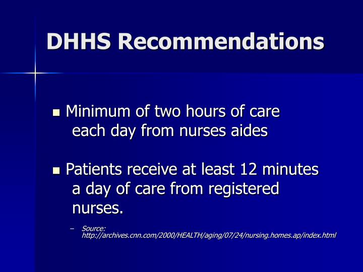 DHHS Recommendations