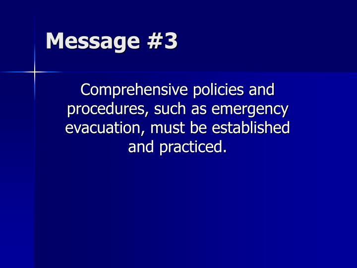 Message #3