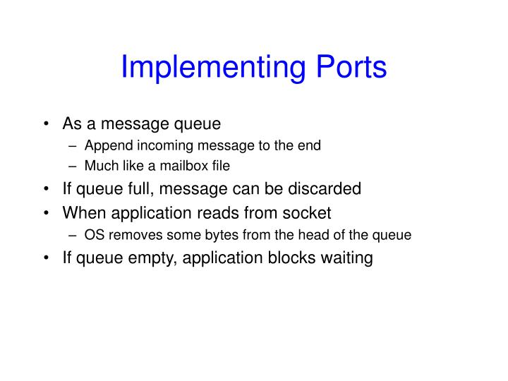 Implementing Ports