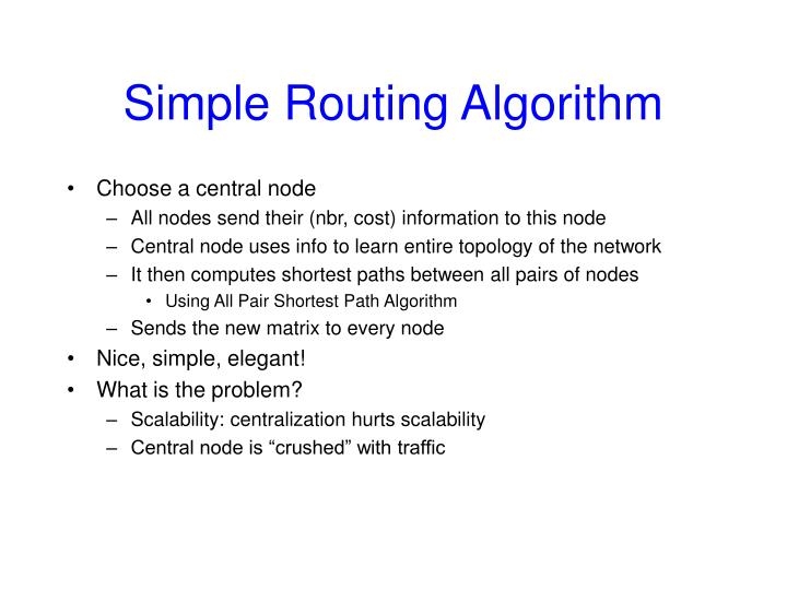 Simple Routing Algorithm