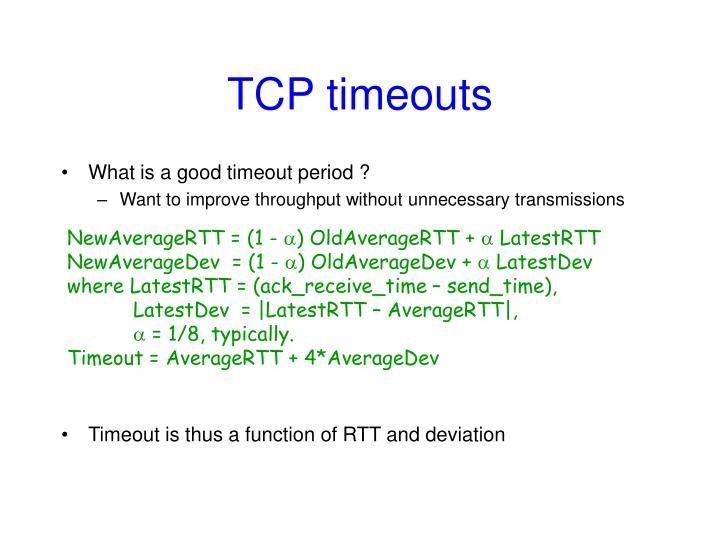 TCP timeouts