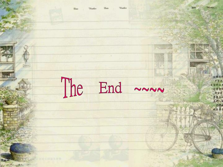 The    End   ~~~~