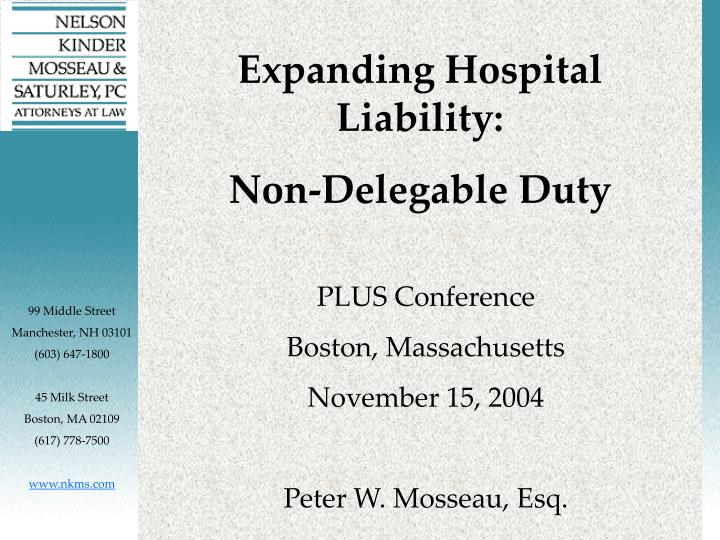 Expanding Hospital Liability: