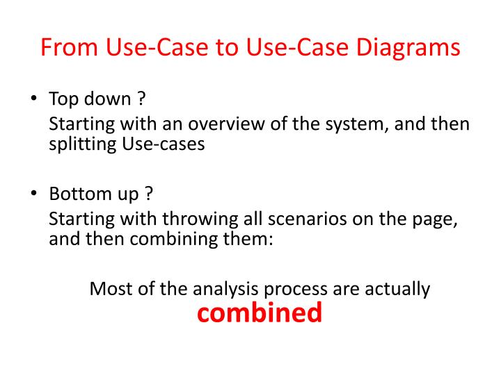 From Use-Case to Use-Case Diagrams