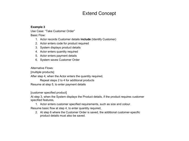 Extend Concept