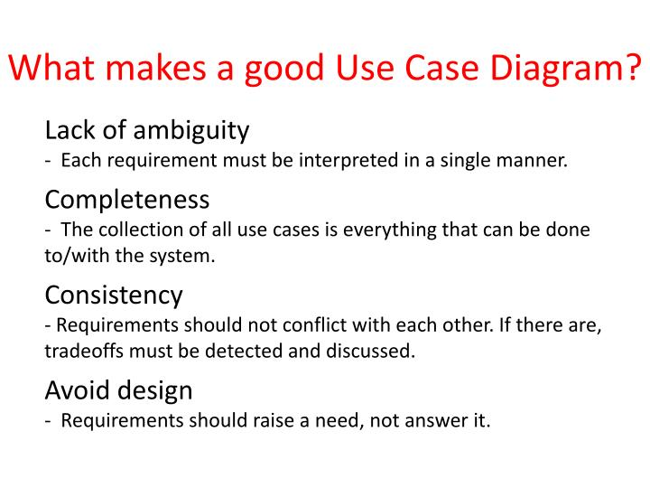 What makes a good Use Case Diagram?