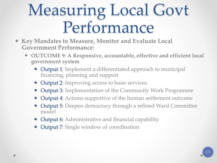 Measuring Local