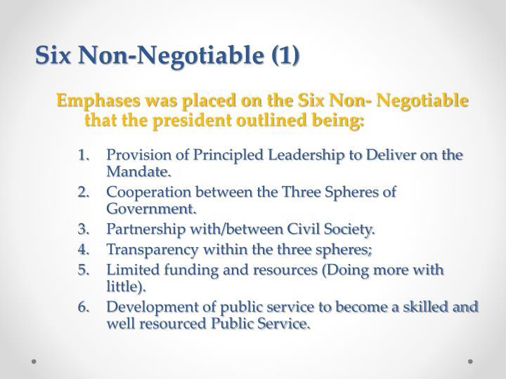 Six Non-Negotiable (1)