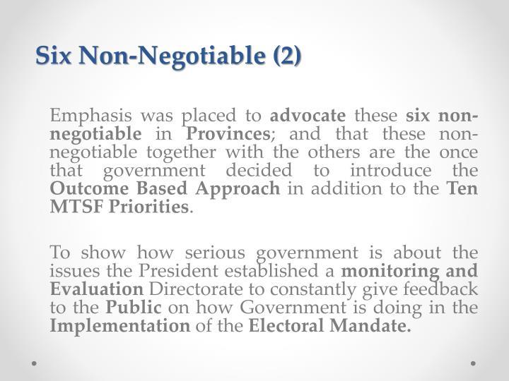 Six Non-Negotiable (2)