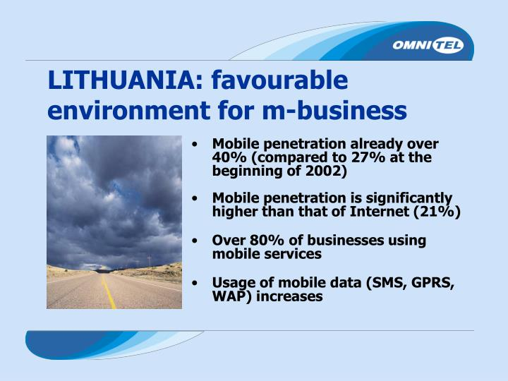 LITHUANIA: favourable environment for m-business