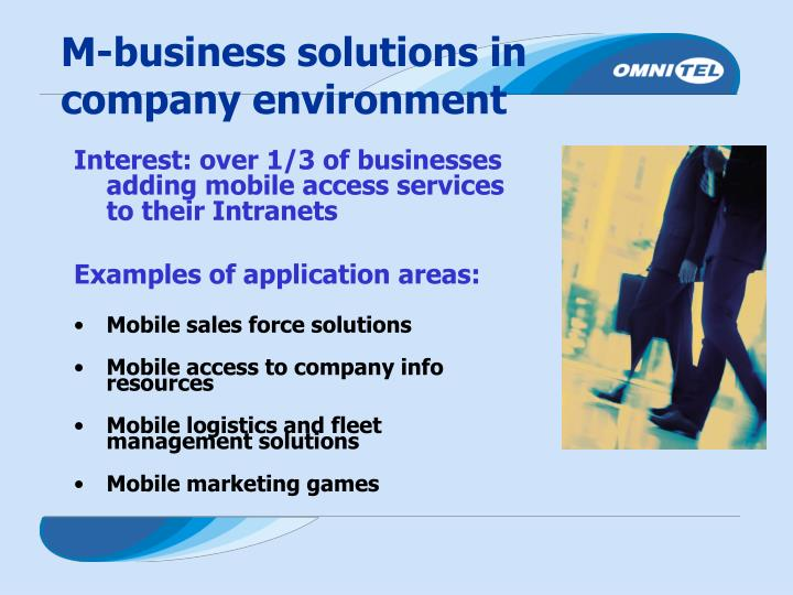 M-business solutions in company environment