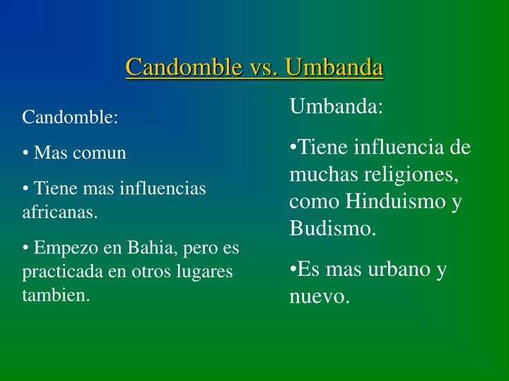 Candomble vs. Umbanda