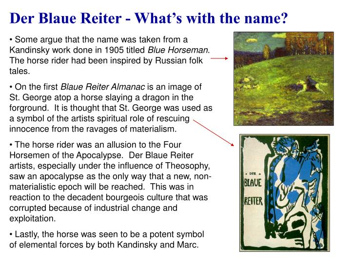 Der Blaue Reiter - What's with the name?