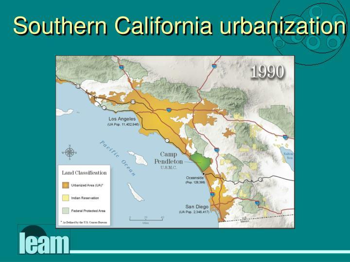 Southern California urbanization