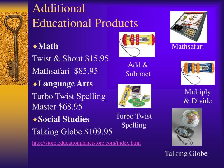 Additional Educational Products