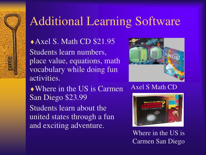 Additional Learning Software