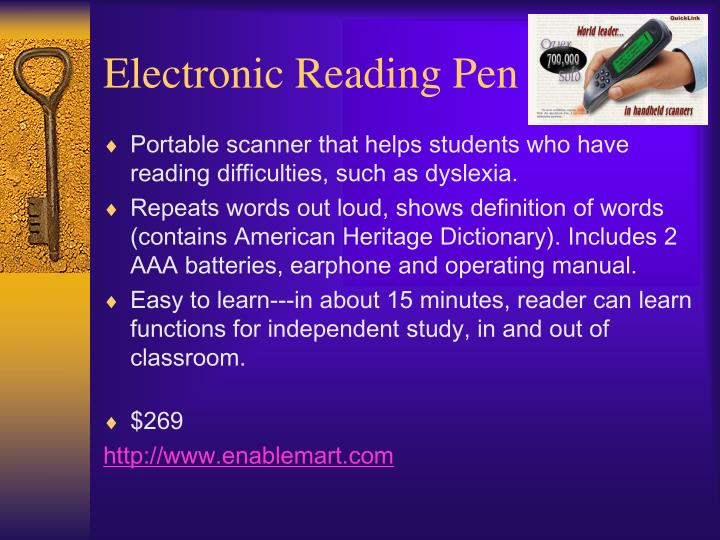 Electronic Reading Pen