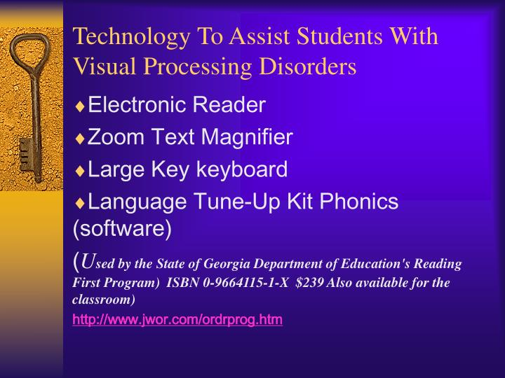 Technology To Assist Students With Visual Processing Disorders