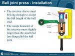 ball joint press installation1