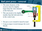 ball joint press removal