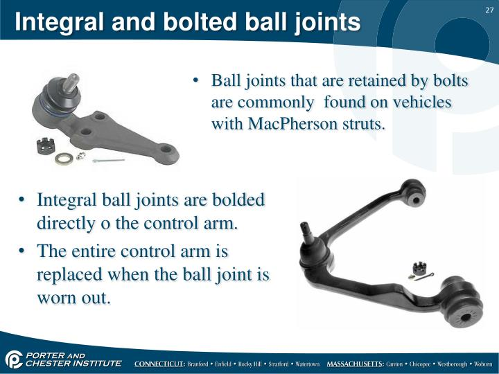 Integral and bolted ball joints