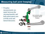 measuring ball joint freeplay