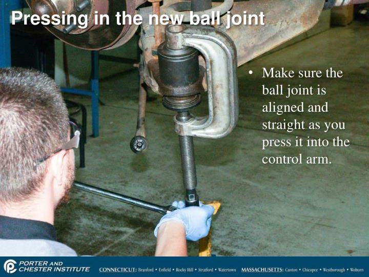 Pressing in the new ball joint