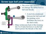 screw type ball joint separator