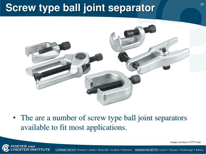 Screw type ball joint separator