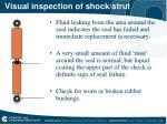 visual inspection of shock strut