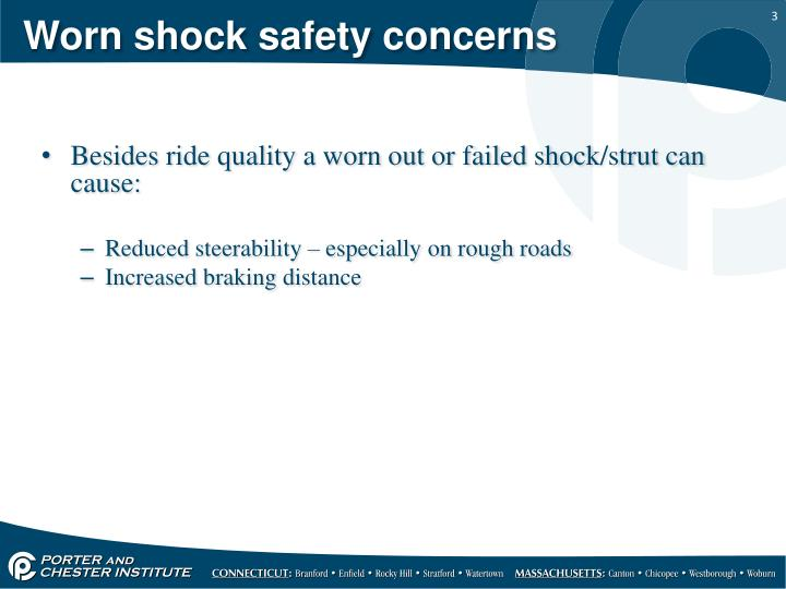 Worn shock safety concerns