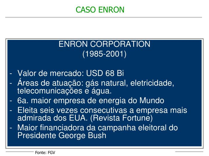 ENRON CORPORATION