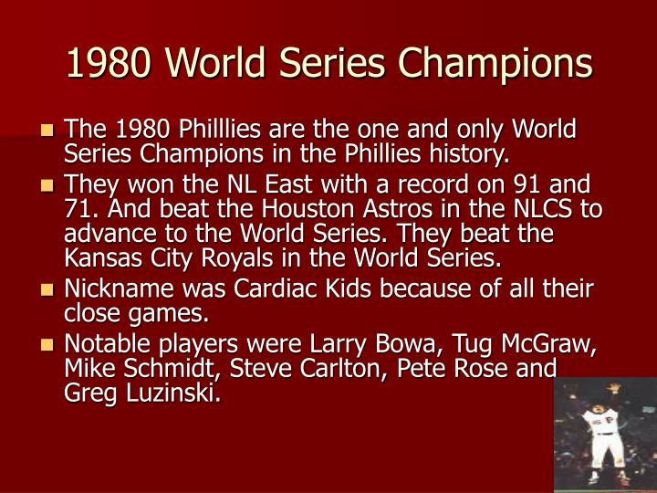 1980 World Series Champions