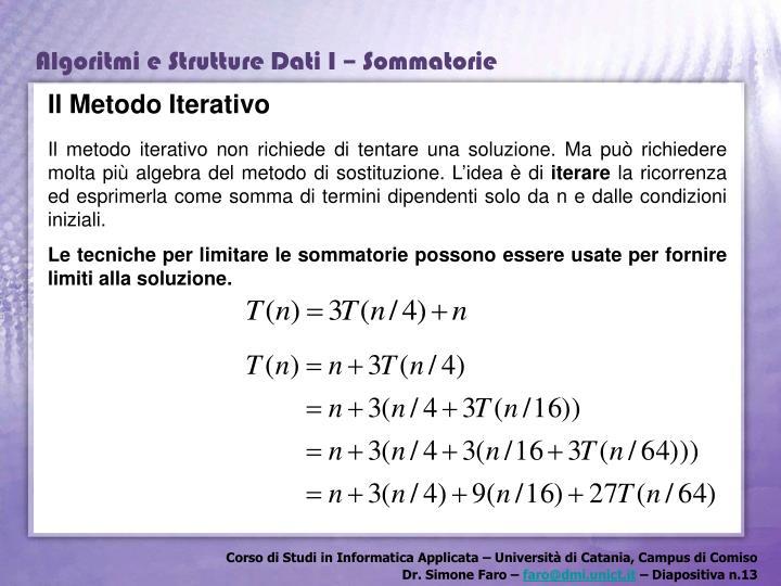 Il Metodo Iterativo