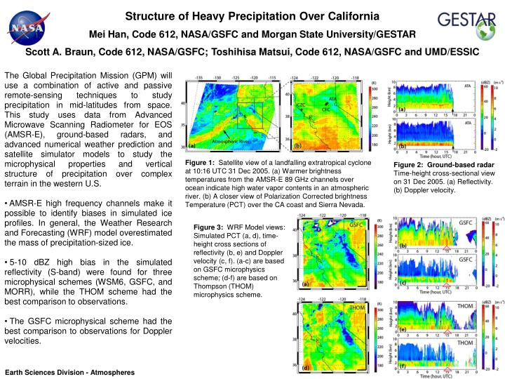 Structure of Heavy Precipitation Over California