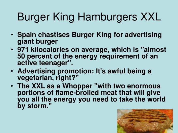 Burger King Hamburgers XXL