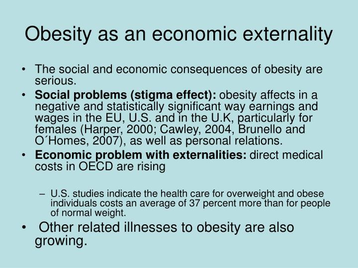 Obesity as an economic externality