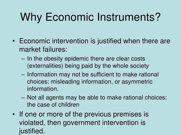 Why Economic Instruments?