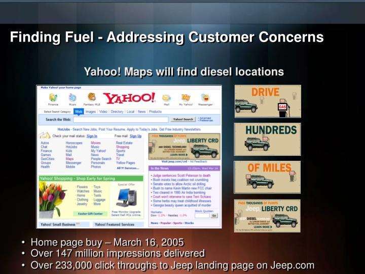 Finding Fuel - Addressing Customer Concerns