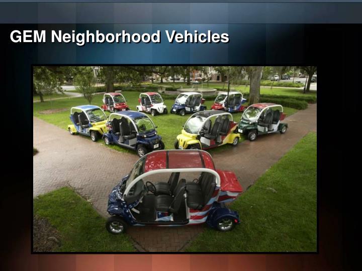 GEM Neighborhood Vehicles