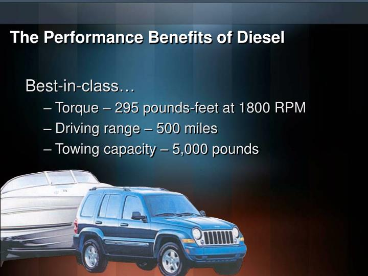 The Performance Benefits of Diesel