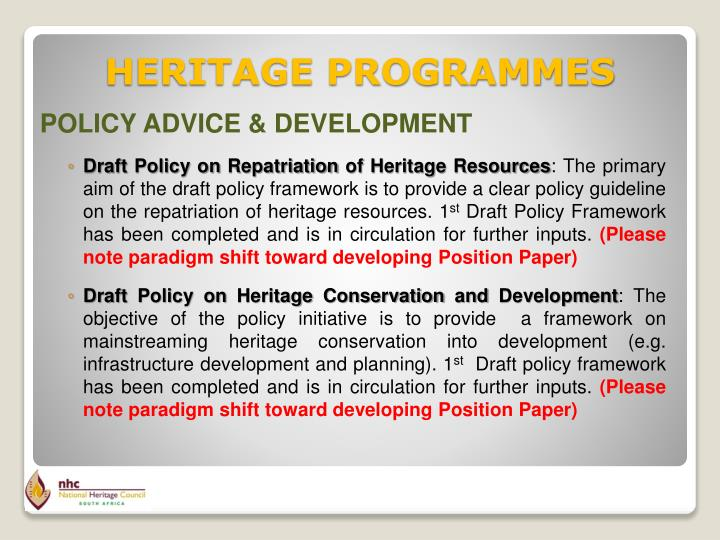 POLICY ADVICE & DEVELOPMENT