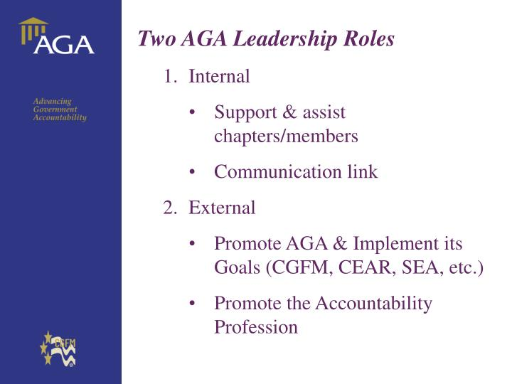 Two AGA Leadership Roles