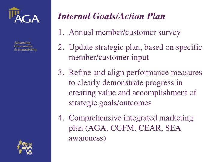 Internal Goals/Action Plan