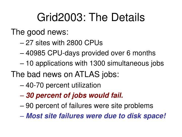 Grid2003: The Details