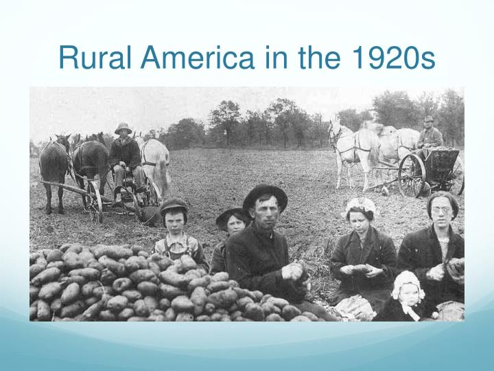 Rural America in the 1920s